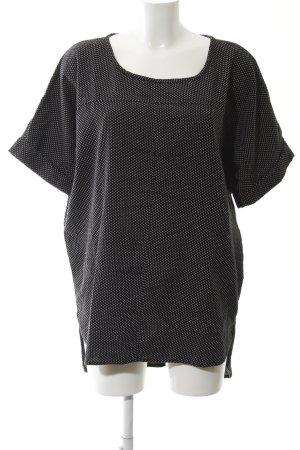Ichi Shirtkleid schwarz-weiß Punktemuster Casual-Look