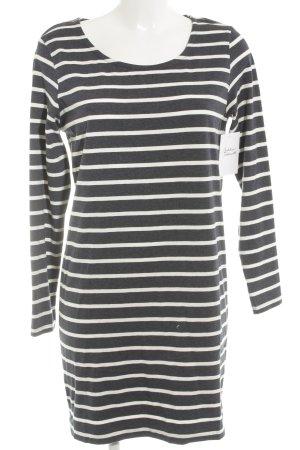 Ichi Shirtkleid weiß-dunkelblau Streifenmuster Casual-Look