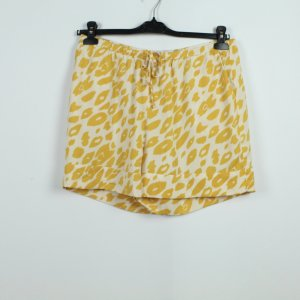 ICHI Shorts Gr. L gelb creme Animalprint (19/07/293)