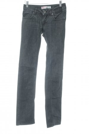 Ichi Straight-Leg Jeans anthrazit meliert Casual-Look