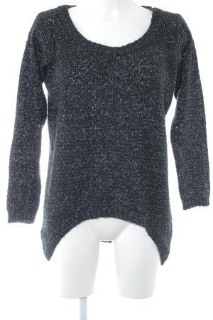 Ichi Strickpullover schwarz-weiß Casual-Look