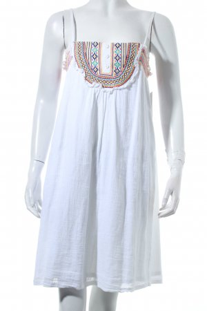 Ichi Trägerkleid weiß Gypsy-Look