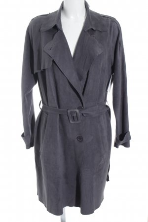 Ichi Trenchcoat graublau Casual-Look