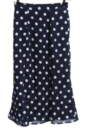 Ichi Flounce Skirt dark blue-natural white spot pattern casual look
