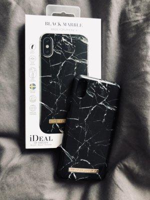 Étui pour téléphone portable noir-blanc