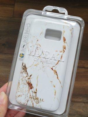 Carcasa para teléfono móvil blanco-color oro