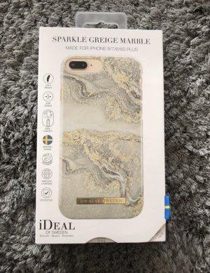 Étui pour téléphone portable gris clair-doré
