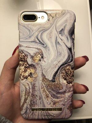 Hoesje voor mobiele telefoons wit-azuur