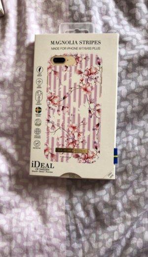 Ideal Étui pour téléphone portable blanc-rose matériel synthétique