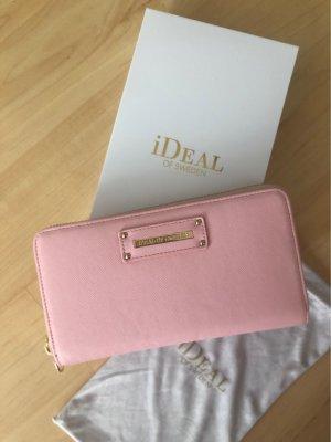 Borsa clutch rosa chiaro-rosa