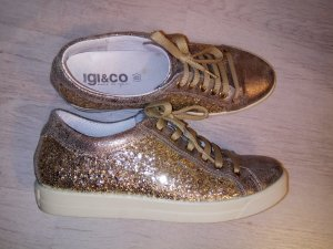 IGI & CO Sneakers Leder Echtleder Metallic gold Gr. 39