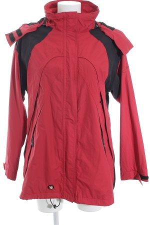 IGUANA Regenjacke rot-schwarz Casual-Look