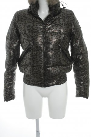 IGUANA Winterjacke Leomuster Glanz-Optik
