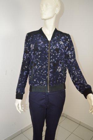 iheart Blazer Jacke 100% Seide Gr.S/M schwarz blau