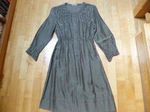 iheart Robe mi-longue gris vert tissu mixte