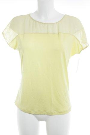 iheart Kurzarm-Bluse blassgelb Elegant
