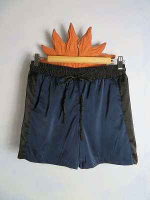 iheart High-Waist-Shorts dark blue-black silk