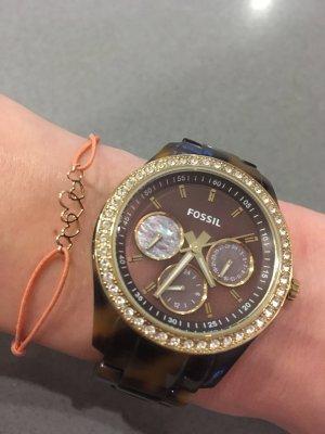 Ihr Blogger Fossil braun Gold Steine Armbanduhr Armband Accessoires Fashion