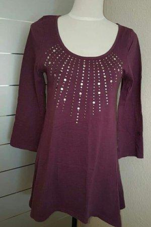 Colours of the World Shirt Dress brown violet-dark violet