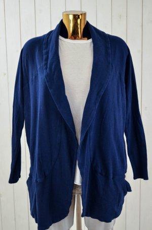 III MONKEYS Damen Jacke Blazerjacke Jersey Blau Baumwolle Schalkragen Gr.S