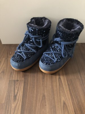 Ikkii Botas de nieve azul oscuro-azul