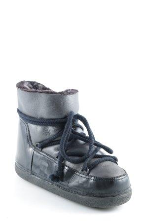 Ikkii Snow Boots black-taupe glittery