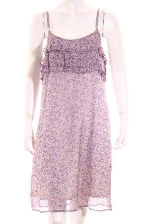 Ikks Empirekleid creme-lila florales Muster Romantik-Look