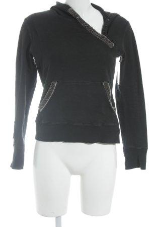 Ikks Kapuzensweatshirt schwarz sportlicher Stil