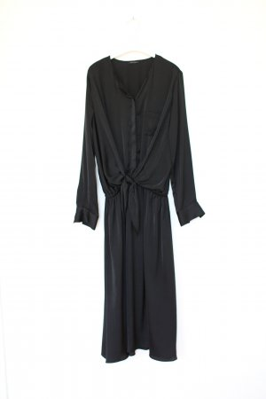 Ikks Kleid XXL Maxi Dress schwarz Elegant Vintage Kleid Gr. M