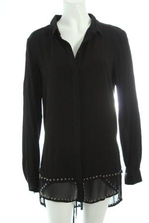 Ikks Langarm-Bluse schwarz schlichter Stil