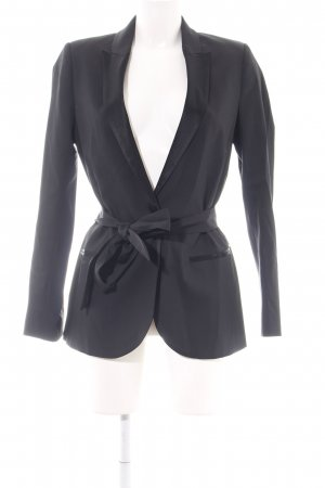 Ikks Long-Blazer schwarz Business-Look