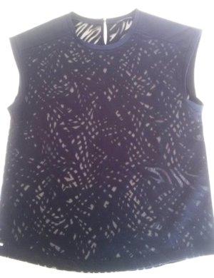 IKKS | Modernes, halbtransparentes Shirt in Schwarz, Animal-Streifen