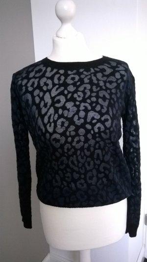 Ikks  Pullover-Transparentes Leopardl Print.