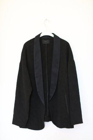 Ikks Pyjama Blazer Jacke Schwarz Dunkelblau Vintage Look Gr. 38 M