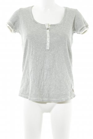 Ikks Gestreept shirt wolwit-licht beige gestreept patroon marine uitstraling