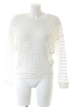 Ikks Rundhalspullover weiß florales Muster Casual-Look