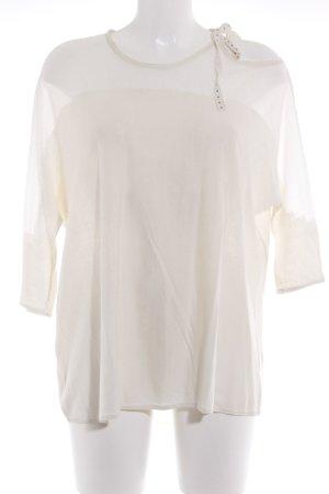 Ikks Camisa tejida beige claro look casual