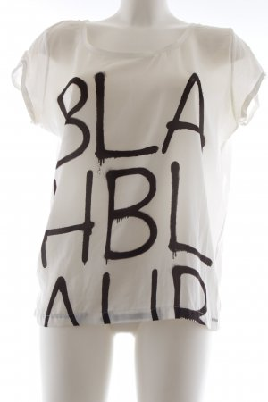 Ikks T-Shirt weiß Schriftzug gedruckt Casual-Look