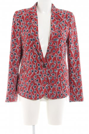 Ikks Tweed Blazer red-blue abstract pattern elegant