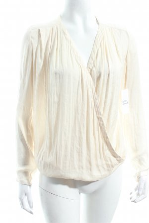 Ikks Wraparound Blouse cream street-fashion look