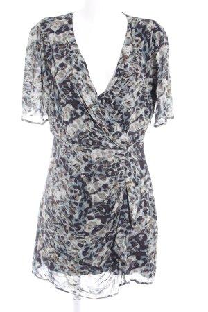 Ikks Vestido cruzado estampado con diseño abstracto look casual