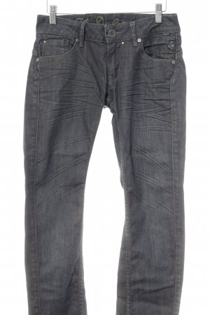 Il Dolce Straight-Leg Jeans dunkelblau Used-Optik