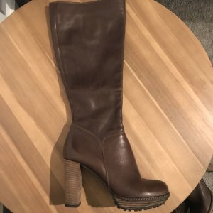 0039 Italy Heel Boots grey brown-dark brown