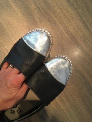Espadrille Sandals black-silver-colored