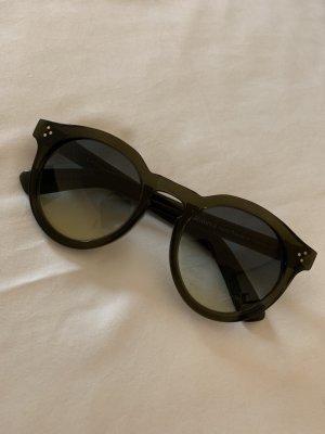 Illesteva Leonard II Sonnenbrille Sunglasses in Oliv Grün Runde Gläser