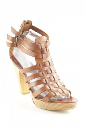 Ilse jacobsen Platform High-Heeled Sandal brown wooden look