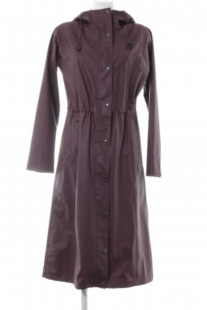 Ilse jacobsen Heavy Raincoat dark violet casual look