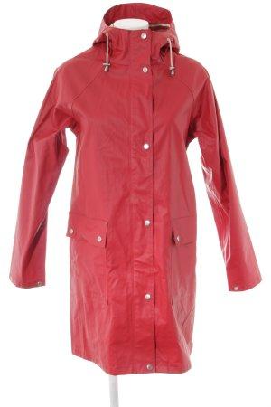 Ilse jacobsen Regenmantel silberfarben-rot sportlicher Stil