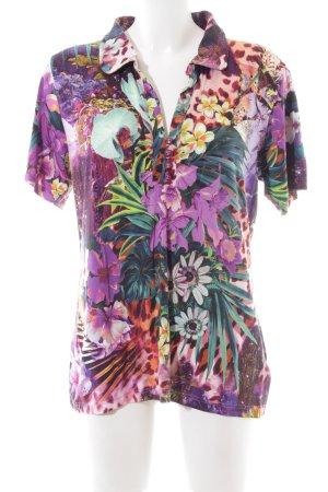Imagini Polo-Shirt Blumenmuster Casual-Look