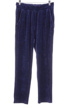 Imagini Pantalon de jogging bleu foncé effet velours